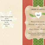 Rustic Winter Order of Service Cover additional 3