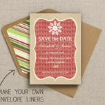 Rustic Winter Pattern Sheet/Envelope Liner additional 2