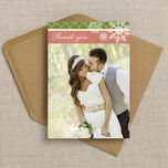 Rustic Winter Thank You Card additional 2