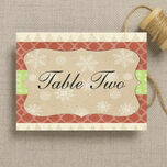 Rustic Winter Table Name additional 2