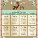 Rustic Woodland Wedding Seating Plan additional 3