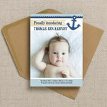 Nautical Birth Announcement Card additional 1