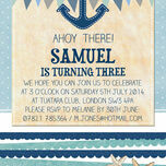 Nautical Party Invitation additional 3