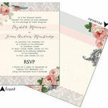 Sweet Vintage Wedding Invitation additional 3