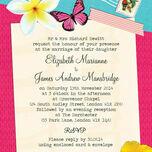 Tropical Breeze Wedding Invitation additional 2