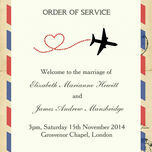 Vintage Airmail Order of Service Cover additional 1