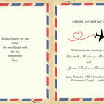 Vintage Airmail Order of Service Cover additional 3