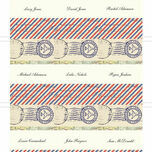 Vintage Airmail Place Cards - Set of 9 additional 2