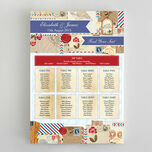 Vintage Airmail Wedding Seating Plan additional 2