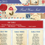 Vintage Airmail Wedding Seating Plan additional 4