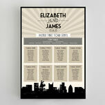 Vintage Hollywood Wedding Seating Plan additional 1