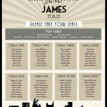 Vintage Hollywood Wedding Seating Plan additional 2