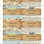 Vintage Scrapbook Escort Cards - Set of 8 additional 2