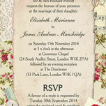Vintage Scrapbook Wedding Invitation additional 2