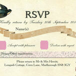 Vintage Scrapbook RSVP additional 1