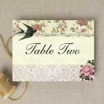Vintage Scrapbook Table Name additional 2