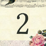 Vintage Scrapbook Table Number additional 1