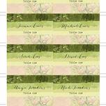 Wild Garden Escort Cards - Set of 8 additional 5