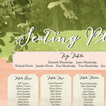 Wild Garden Wedding Seating Plan additional 4