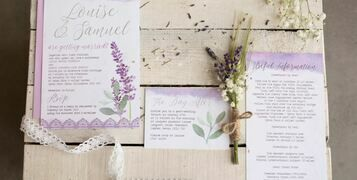 Lavender and Sage Wedding Stationery and Inspiration
