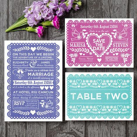 Papel Picado Wedding Stationery