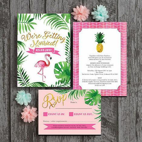 Flamingo Fiesta Wedding Stationery