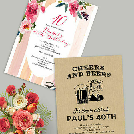 40th Birthday Invitations