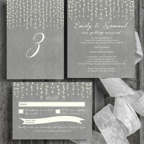 Fairy Lights Wedding Stationery