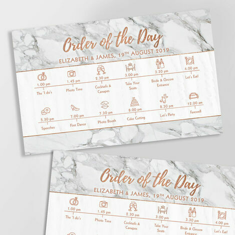 Wedding Timeline Cards