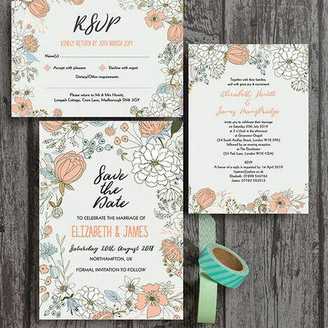 Wild Flowers Wedding Stationery