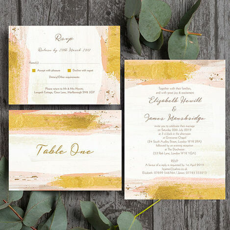 Blush Pink & Gold Wedding Stationery