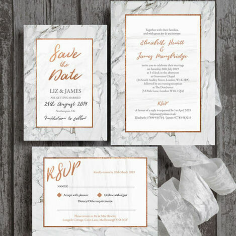 Marble Wedding Stationery
