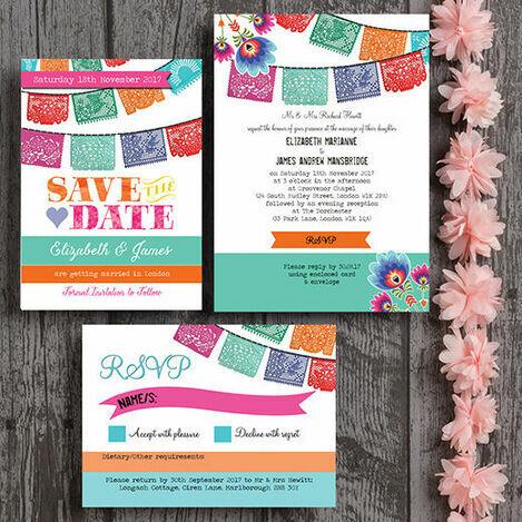 Mexican Fiesta Wedding Stationery