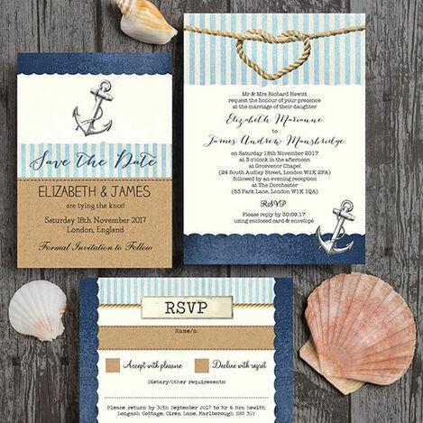 Nautical Knot Wedding Stationery