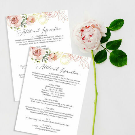 Guest Information Cards