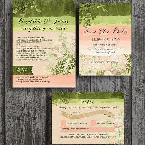 Wild Garden Wedding Stationery
