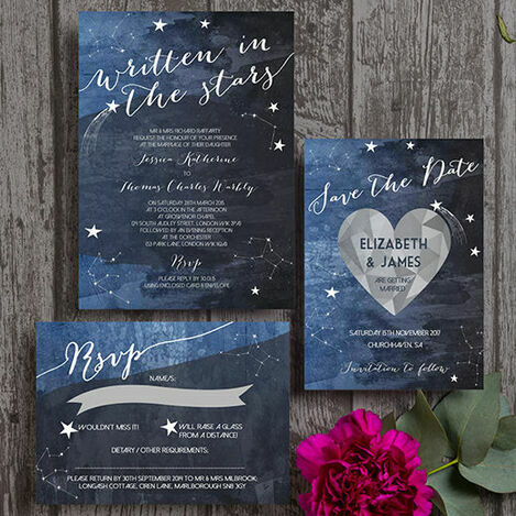 Midnight Stars Wedding Stationery