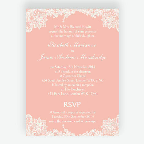 Romantic Lace Wedding Stationery