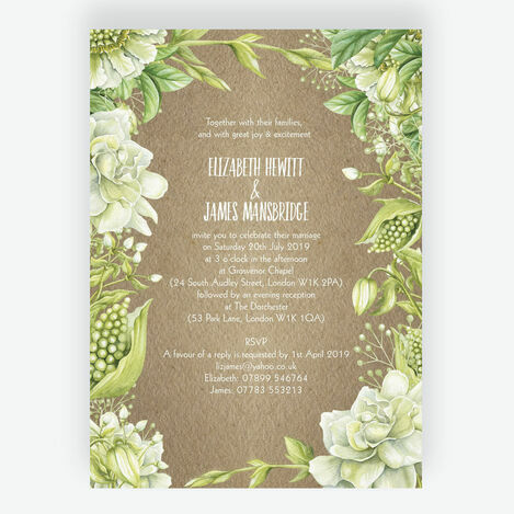 Rustic Greenery Wedding Stationery
