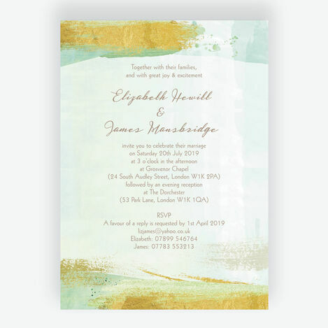 Mint Green & Gold Wedding Stationery