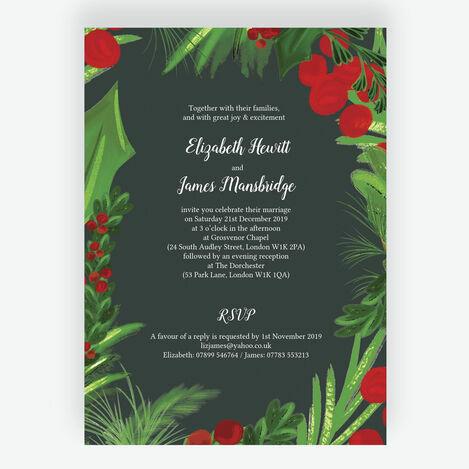 Winter Berries Wedding Stationery