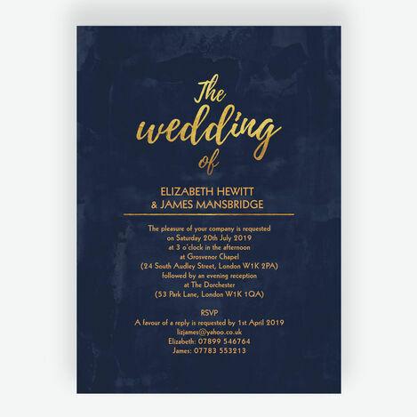 Navy & Gold Wedding Stationery
