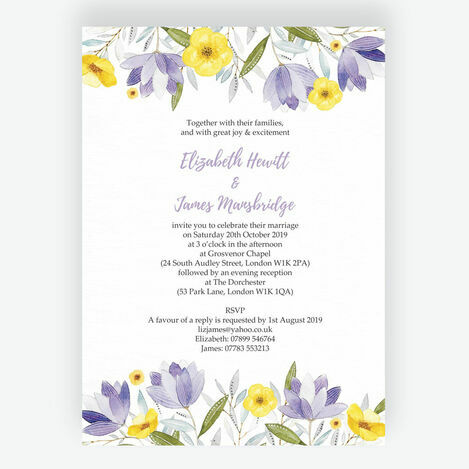 Lilac & Lemon Wedding Stationery