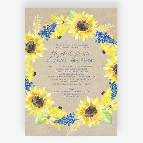 Sunflower Wedding Stationery