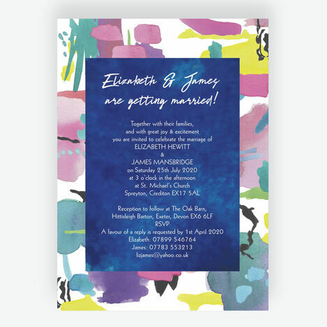 Bright Watercolour Wedding Stationery