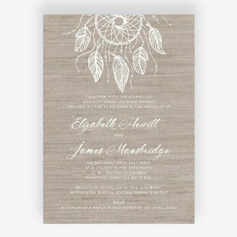 Dream Catcher Wedding Stationery