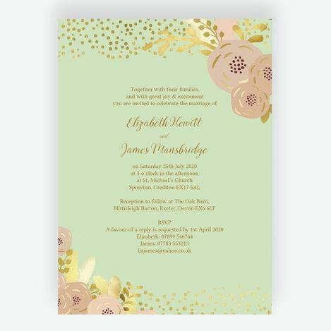 Mint, Blush & Gold Wedding Stationery