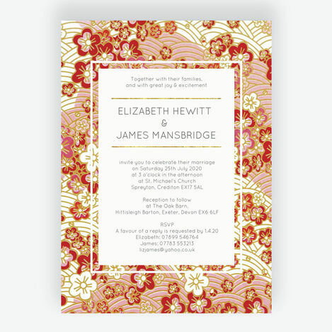 Origami Floral Wedding Stationery