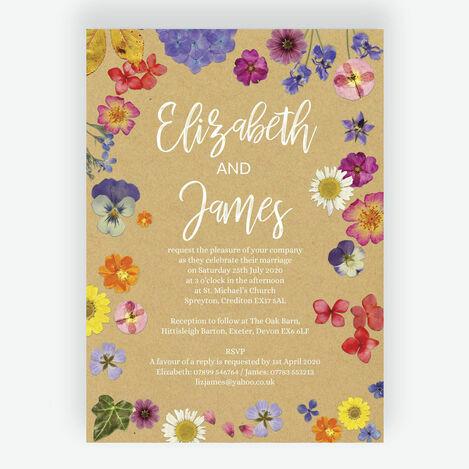 Pressed Flowers Wedding Stationery
