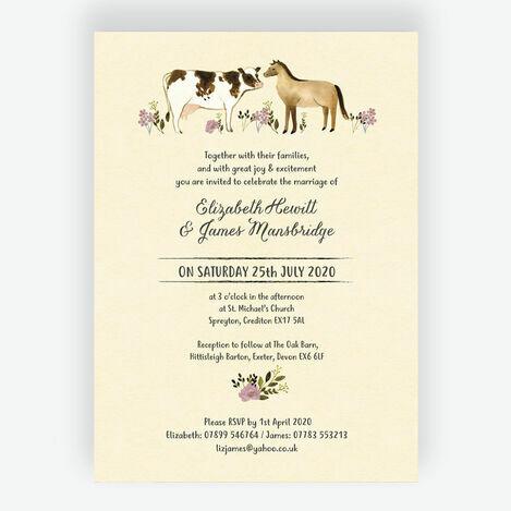 Rustic Farm Wedding Stationery